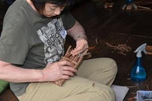 ヤマブドウの形態ケース作り(加工)